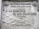 007) Tablica upamiętniająca inicjatorów kanału - Francuzów