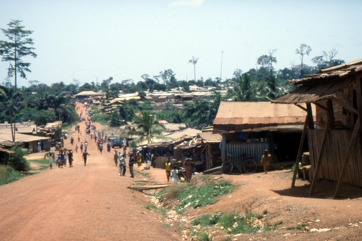 Wieś przy drodze