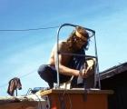 Prace przy mocowaniu sterów