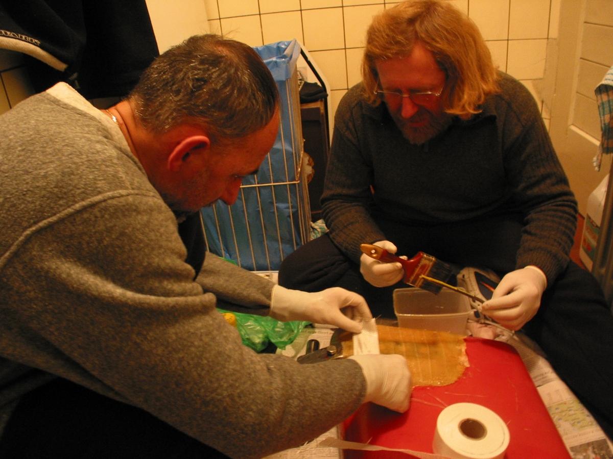 Laminowanie w łazience niemieckich celników
